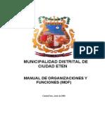 PLAN_11399_MANUAL DE ORGANIZACION Y FUNCIONES_2009