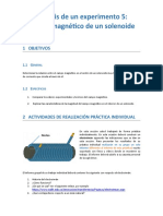 Analisis de un experimento campo magnetico solenoide