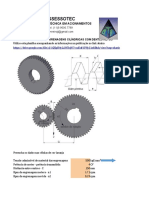 Dimensionamento de Engrenagens Cilíndricas Com Dentes Retos