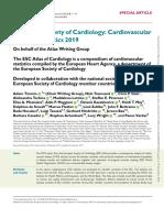 ESC Cardiovascular Disease Statistics 2019