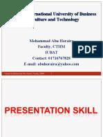 Presentation Skill by Horaira