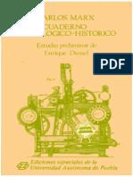 MARX Cuaderno tecnologico Londres 1851 Estudio preliminar de Enrique Dussel