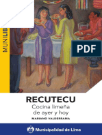 RECUTECU COCINA LIMEÑA DE AYER Y HOY - MARIANO VALDERRAMA