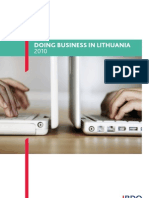 """Publication """"Doing business in Lithuania 2010"""""""