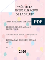 INFORME DE EDUCACIÓN FÍSICA