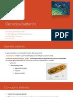6 MEDICINA - genetica batterica