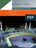 Cranfield Defence Academy Understanding Islamist Radicalisation Violence Brochure 2010