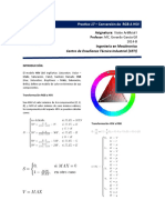Practica 18  Conversión de  RGB A HSV