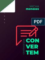 Micha Menezes - Ebook - 8 Criativos Que Convertem