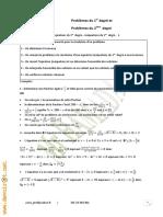 Cours Math - Chapitre 2 Problèmes du 1er degré  2ème degré - 2ème Sciences Mr Hamada (1)