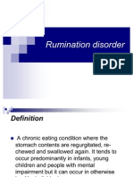 rumination disorder