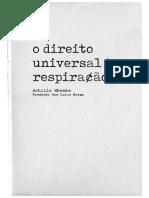 Achille Mbembe - O direito universal a respiração..pdf