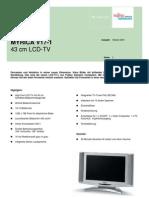 TV LCD Fujitsu Siemens Myrica V17-1 S26361-K961-V170