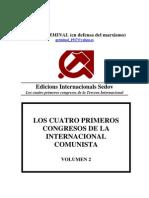 Cuatro Primeros Congresos Internacional Comunista volumen 2