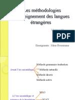Cours 3 Les méthodologies d'enseignement des langues étrangères