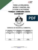 Plan para la Vigilancia, Prevención y Control del COVID-19 (Comisaria Santa Elizabet)