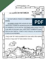 PLANO DE AULA CIÊNCIAS - NOVEMBRO
