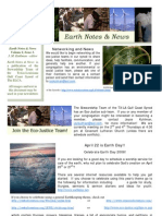 Earth Notes and News 2008 - Gulf Coast Synod