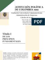 Constitución Política Titulo I y II