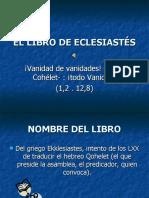 EL LIBRO DE ECLESIASTÉS.ppt