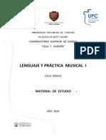 Cuadernillo Lenguaje y Práctica Musical I