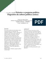 o servidor peixoto e a pequena politica flagrantes da cultura politica carioca