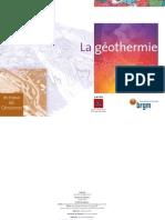 Géothermie - les Enjeux des Géosciences - ADEME