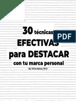 30 EFECTIVAS  para BRILLAR  con tu marca personal