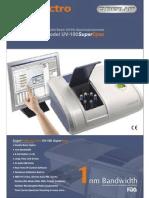 UV - 100 Double beam spectrophotometer