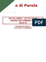 Sete di Parola - XXXIII Settimana T.O. - A.doc
