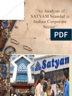 An Analysis of SATYAM Scandal in Indian
