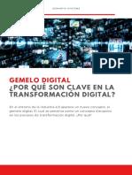 Ebook - Gemelo Digital Por qué son clave en la Transformación Digital