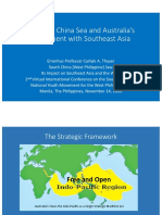 Thayer South China Sea and Australia's Engagement With Southeast Asia