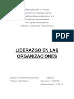 Taller Acerca de La Comunicacion Organizacional - Dana Guerra Genderson Gomez VI Semestre de Admon y GM