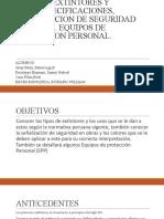 TIPOS DE EXTINTORES Y USOS. ESPECIFICACIONES, SEÑALIZACION DE SEGURIDAD EN OBRAS. EQUIPOS DE PROTECCION PERSONAL..pptx