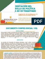 Actividad 6 - Presentación del desarrollo de política pública en un territorio