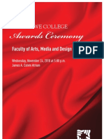 Art & Design Awards Ceremony Program 2010
