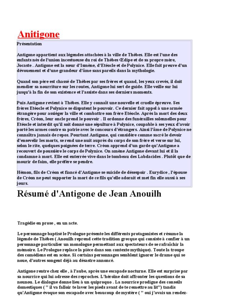 Le r sum des chapitres antigon - La chambre des officiers resume du livre ...