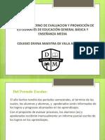 Presentación reglamento de evaluación 2020  (resumen para alumnos ).pptx