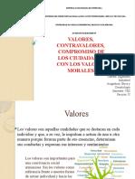 valores, conceptos, contravalores, clasificación de valores, compromiso de los ciudadanos con los valores morales. josue gutierrez 2903425