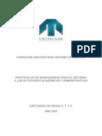 PROTOCOLO BIOSEGURIDAD PARA RETORNO A ACTIVIDADES DE EDUCACIÓN V3 DFTV