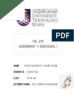 TXL 270 Assignment 1 Fatin Zulaikha.pdf