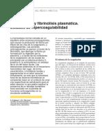 Coagulación y fibrinólisis plasmática. Estados de hipercoagulabilidad
