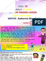The singing lesson xi std part 1