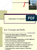 CHAPTER 1 INTRODUCTION TO CORPORATE FINANCE