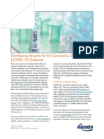 Developing Vaccines for the Coronavirus Disease COVID 19 Outbreak