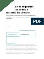 Descrição de requisitos com casos de uso e histórias do usuário