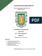 Tabla comparativa Contrato mercantil y civil