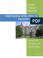 Senate Finance Minority - Staff Analysis of the 2011-12 Executive Budget
