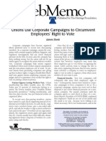 (Sherk) Union Use corporate campaigns to circumvent employees right to vote